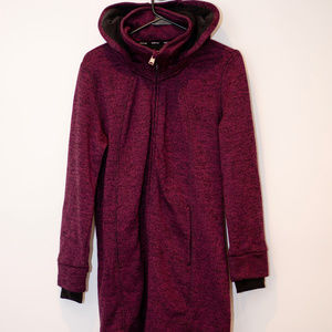 Kenneth Cole Purple Extra Long Full Zip Up Hoodie